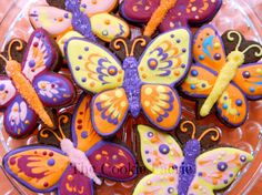 Butterfly Cookies with Edible Glitter