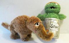 Snuffy Snuffleupagus Oscar The Grouch in Trashcan Sesame St Gund Stuffed Plush   eBay