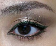Olive green eyeliner