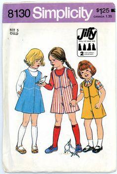 1970s Girls Jumper and Culotte Jumper Size 5 by VerenasCloset