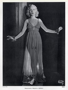 Alix (Germaine Krebs) 1936 Madeleine Ozeray, Photo Philippine D'Ora (AKA Madam Gres)