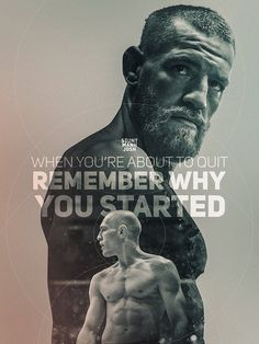 Check out this week's Motivation Monday list to help you kickstart your week with one of the best fitness, bodybuilding and workout motivational quotes! Training Motivation, Fitness Motivation Quotes, Monday Motivation, Football Motivation, Conor Mcgregor Quotes, Notorious Conor Mcgregor, Lucha Mma, Mcgregor Wallpapers, Conner Mcgregor
