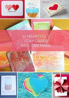 Cute Handmade Valentine Cards Kids Can Make.