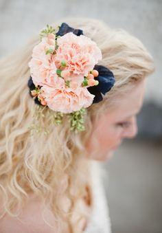 Carnation and Godetia Wedding Flowers