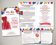 American Heart Association 2017 Garden State Go Red For Women Luncheon Invitation Design