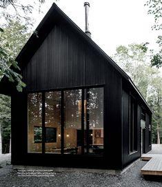 Metal Building Homes, Building A House, Black Building, Plan Chalet, Casa Loft, Black House Exterior, Design Exterior, Casas Containers, Barn House Plans