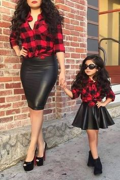 Mother & Daughters matching outfits!! So very cute!!