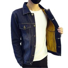 >> Click to Buy << TG6423  Cheap wholesale 2016 new Men with velvet han edition cultivate one's morality leisure jacket denim jacket coat  #Affiliate