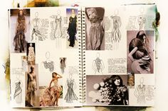 A2 Textiles A Level Textiles Sketchbook, Sketchbook Layout, Fashion Design Sketchbook, Fashion Design Drawings, Sketchbook Inspiration, Sketchbook Ideas, Sketch Fashion, Fashion Illustration Collage, Fashion Collage