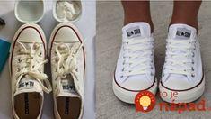 Toto je jediné, čo mi zabralo, radím to každému: Jednoduchý a lacný návod, ako vybieliť tenisky, sú ako nové! Flylady, Nordic Interior, Chuck Taylor Sneakers, Cleaning Hacks, Good Things, Womens Fashion, Techno, Shoes, Summer Clothes