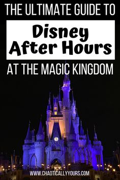 Enjoy Walt Disney World's Magic Kingdom attractions with little to no wait times at the Disney After Hours event. Disney World Tickets, Disney World Florida, Walt Disney World Vacations, Disney Parks, Disney Travel, Orlando Disney, Disney Destinations, Disneyland Trip, Family Vacations