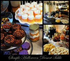 really cute variety of halloween inspired sweets for parties. They are really easy / dip Hostess cakes in chocolate and sprinkles