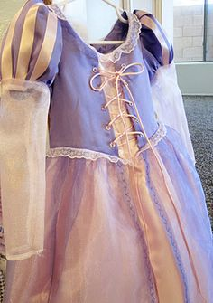Cute fabric choices for Rapunzel dress