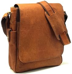 9c1d03a4c14b PURPLE RELIC  11 inch Sturdy Vintage Leather Man Bag iPad Bag Laptop Messenger  Satchel Sling