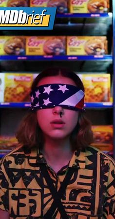 stranger things season 3 poster of Eleven blindfolded Stranger Things Fotos, Stranger Things Quote, Bobby Brown Stranger Things, Stranger Things Aesthetic, Stranger Things Season 3, Eleven Stranger Things, Stranger Things Netflix, Tv Episodes, Millie Bobby Brown