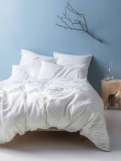 White Nimes Linen Quilt Cover Set by Linen House. Get it now or find more Quilt Cover Sets at Temple & Webster. Bedding And Curtain Sets, King Bedding Sets, Curtains, Hotel Bedroom Design, Bed Linen Australia, Toddler Girl Bedding Sets, Online Bedding Stores, Buy Bed, Bed Linen Sets