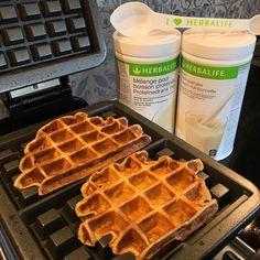 Herbalife Protein Waffles  ✅ 2 scoops Herbalife Formula 1, Vanilla ✅ 2 scoops Herbalife Protein Drink Mix ✅ 4 egg whites ✅ 1 tsp Cinnamon…