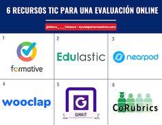 AYUDA PARA MAESTROS: 6 recursos TIC para una evaluación online Bar Chart, Social Media, App, School, Velasco, Html, Tech, Twitter, Blog