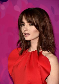 Lily Collins Photos - Actress Lily Collins attends the Annual StyleMaker Awards hostd by Variety and WWD at Quixote Studios West Hollywood on November 2016 in West Hollywood, California. - Variety and WWD Host Annual StyleMakers Awards - Arrivals Lily Collins Haircut, Lilly Collins Hair, Lily Collins Style, Lily Collins Pelo Corto, Head Band, Celebs, Celebrities, Hair Today, Hair Inspo