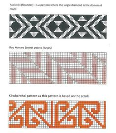 taniko patterns and meanings Flax Weaving, Inkle Weaving, Weaving Art, Basket Weaving, Tapestry Crochet Patterns, Weaving Patterns, Knitting Patterns, Graph Design, Pattern Design