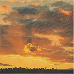 #sunset. #retro Fine Art Print