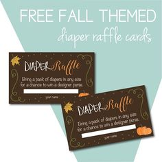 We're sharing ideas for a fall baby shower on the blog today. Download free diaper raffle cards. #freebies #itfallyall #thanksgiving #fall #holidays #autum #hurryupfall #thanksgiving #etsyholiday #etsyshop #etsyseller #diy #diyholiday #diymom #givethanks