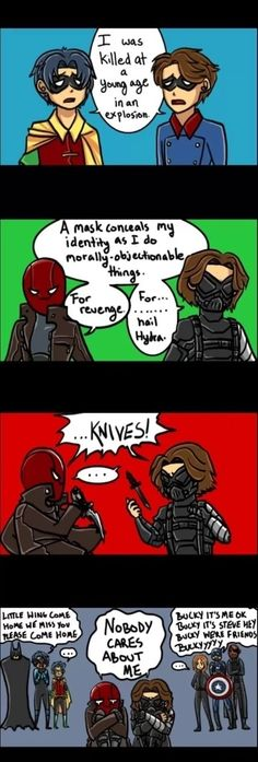 Jason Todd and Bucky......THIS IS ABSOLUTELY PERFECT!!!! OH MY FREAKING GOD!!! I JUST CAN'T!!