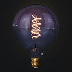 Edison Soft žiarovka GREY-PINK SPHERE Light Bulb, Pastel, Led, Retro, Pink, Home Decor, Italia, Cake, Decoration Home
