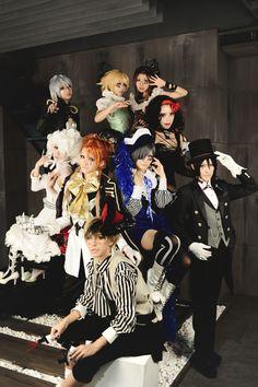 cosplay black butler/Kuroshitsuji http://www.trustedeal.com/black-butler-book-of-circus-Joker-cosplay-costume.html