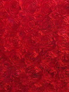 Satin Petal Rosette Red