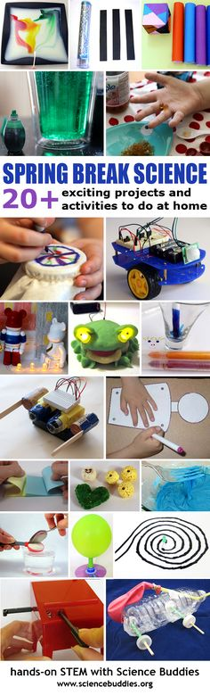 Fun hands-on #STEM activity suggestions for Spring Break. [Science Buddies, http://www.sciencebuddies.org/blog/2016/03/spring-break-science-stem-at-home.php?from=Pinterest] #STEM #scienceproject #springbreak #familyscience
