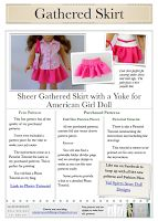Free Patterns for doll clothes. American Girl Doll.