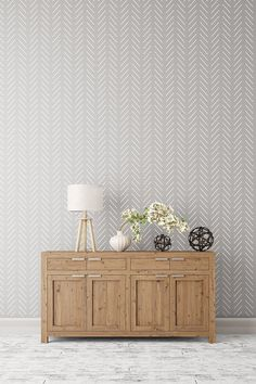 Herringbone Simple Large decorative Scandinavian wall stencil for DIY projects - Reusable - Wallpaper look - Easy home decor