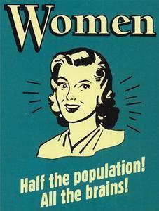 Women Half the Population Vintage style reproduction metal plaque | eBay