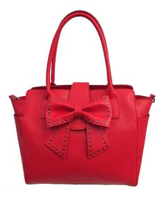 Another great find on #zulily! Red Sincerely Yours Satchel by Betsey Johnson #zulilyfinds