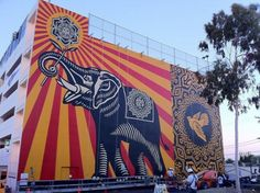 Mural at the back of the West Hollywood library, LA