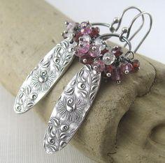 Handmade Gemstone Cluster Earrings $118.00 Designer Jewelry