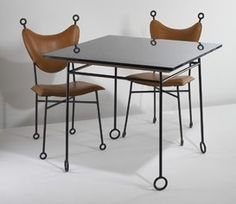 Jean Royere table and chairs