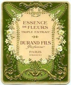 Beautiful perfume labels: