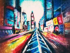 Metropolis Speed - Amanda's Imaginarium Good Cause, Amanda, Pastel, Artwork, Handmade, Painting, Image, Cake, Work Of Art