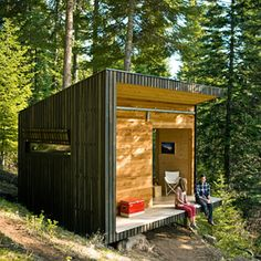 backyard cottage designs prefab modern shed wonderfully tiny wilderness cabin of admirably plans lodge floor plan 2 bedroom Cabine Diy, Building A Small Cabin, Architecture Design, Sustainable Architecture, Diy Cabin, Guest Cabin, Cabin Ideas, House Ideas, Casas Containers