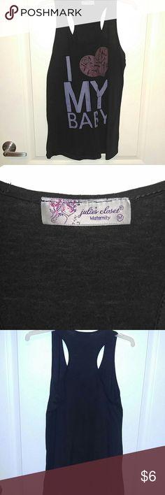 Maternity tank top I love my baby maternity shirt Super comfy! Julie's closet maternity Tops Tank Tops