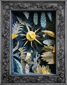 diorama ideas dioramas in a shadow box Shadow Box Kunst, Shadow Box Art, Paper Toy, Matchbox Art, Arts And Crafts, Paper Crafts, Creation Deco, Book Sculpture, Assemblage Art