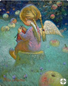 61 ideas knitting illustration paintings for 2019 Victor Nizovtsev, Knit Art, Angel Pictures, Angels Among Us, Guardian Angels, Angel Art, Tole Painting, Christmas Angels, Cute Drawings