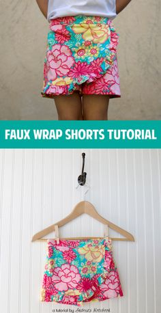 Faux Wrap Shorts Tutorial