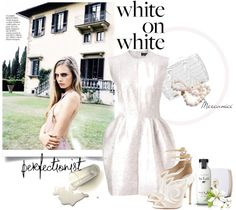 """White on White"" by mercanici ❤ liked on Polyvore"