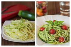 Spaghetti de Courgette Cru au Pesto Basilic