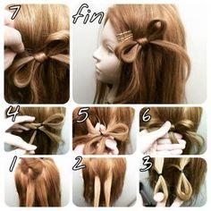 Bows of Hair Up Hairstyles, Braided Hairstyles, Wedding Hairstyles, Childrens Hairstyles, Hair Arrange, Hair Setting, About Hair, Hair Dos, Hair Designs