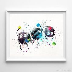 Spirited Away Sootball Print Studio Ghibli Sootball Art Ghibli Art Ghibli Wedding Gift Ghibli Decor Nursery Posters Valentines Day M Anime, Girls Anime, Anime Art, Totoro, Hayao Miyazaki, Geeks, Spirited Away Art, Spirited Away Soot Sprites, Drawn Art