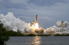 This week in 2011, space shuttle Atlantis, mission STS-135, launched from NASA's Kennedy Space Center to the International Space Station. Nasa Photos, Nasa Images, United Launch Alliance, Space Launch, Nasa Missions, Nasa History, Planetary Science, Kennedy Space Center, International Space Station